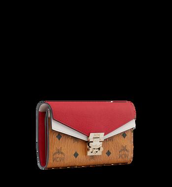 MCM Patricia Crossbody-Brieftasche in Visetos Leather Block Alternate View 2