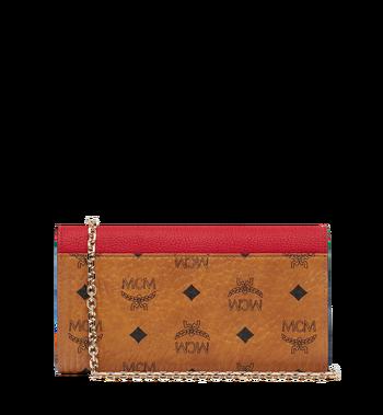 MCM Patricia Crossbody-Brieftasche in Visetos Leather Block Alternate View 3