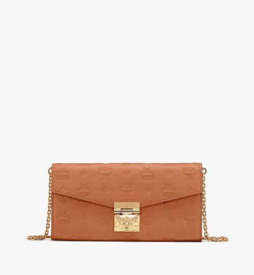 Patricia Crossbody-Brieftasche aus Leder mit Monogramm