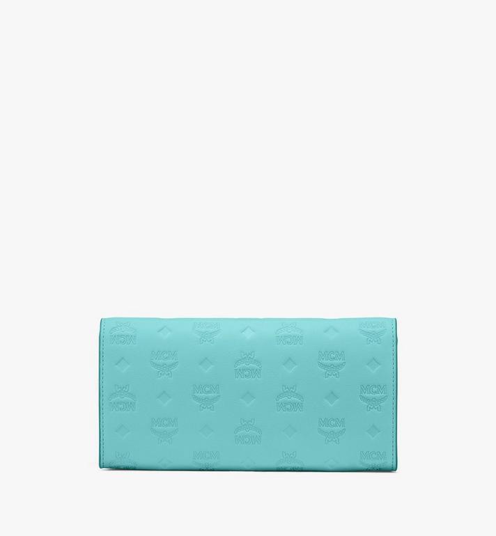MCM Patricia Crossbody-Brieftasche aus Leder mit Monogramm Blue MYL9SPA55H3001 Alternate View 2