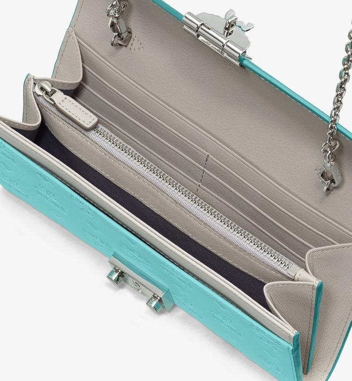 MCM Patricia Crossbody-Brieftasche aus Leder mit Monogramm Blue MYL9SPA55H3001 Alternate View 3