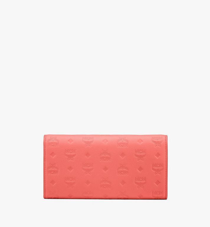 MCM Portefeuille à bandoulière Patricia en cuir monogrammé Pink MYL9SPA55O3001 Alternate View 2