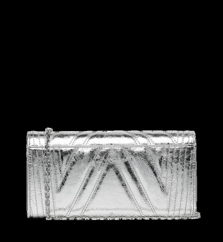 MCM Portefeuille à deux volets Patricia en cuir matelassé métallisé Alternate View 3