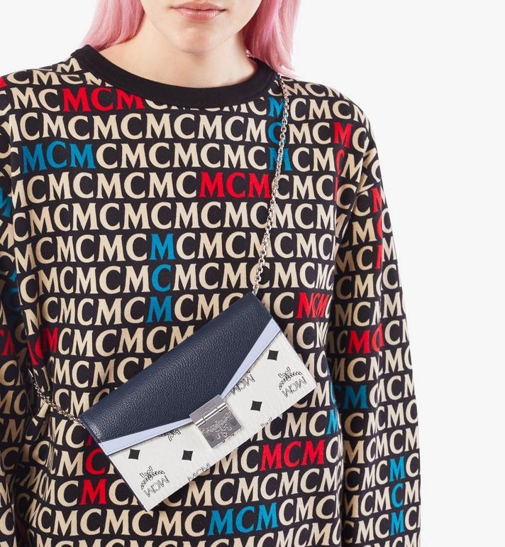 MCM Patricia Crossbody Wallet in Color Block Visetos Black MYLAAPA03VW001 Alternate View 5