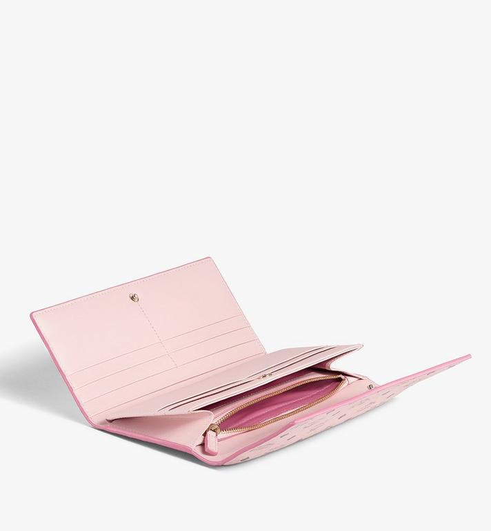 MCM Trifold Wallet in Visetos Original Pink MYLAAVI01QH001 Alternate View 2