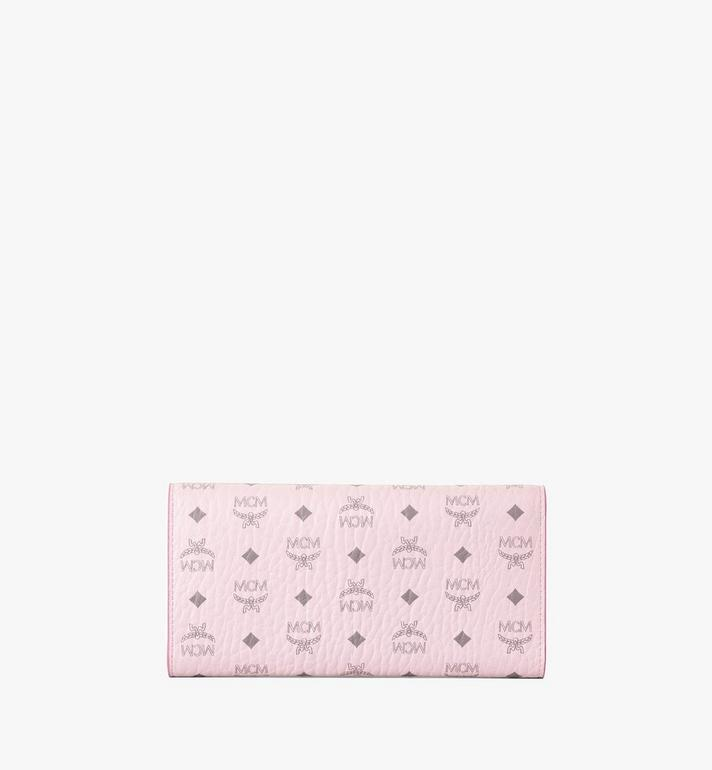 MCM Trifold Wallet in Visetos Original Pink MYLAAVI01QH001 Alternate View 3