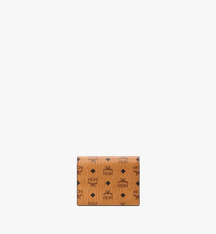MCM Visetos Original 系列的平面卡片錢包 Cognac MYLAAVI02CO001 Alternate View 3