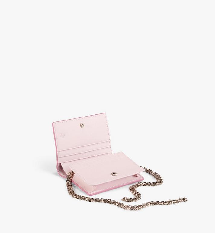 MCM Flache Crossbody-Brieftasche für Karten in Visetos Original Pink MYLAAVI02QH001 Alternate View 2