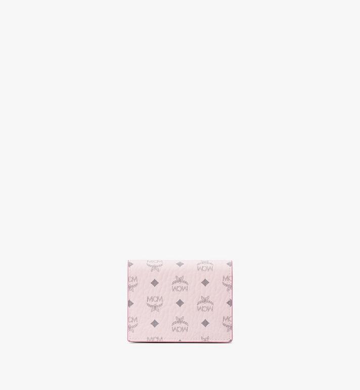 MCM Flache Crossbody-Brieftasche für Karten in Visetos Original Pink MYLAAVI02QH001 Alternate View 3