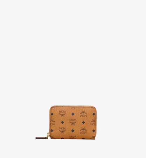 Brieftasche in Visetos Original mit Reissverschluss