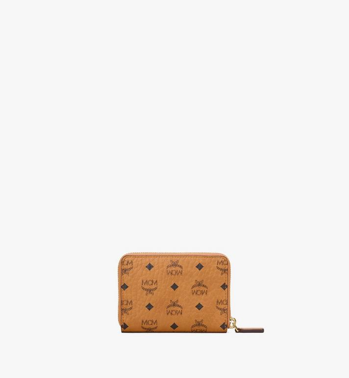 MCM Zip Wallet in Visetos Original Cognac MYLAAVI03CO001 Alternate View 3