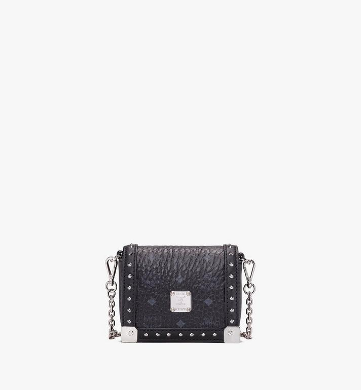 MCM Berlin Series Mini Wallet in Visetos Black MYLASBN02BK001 Alternate View 1