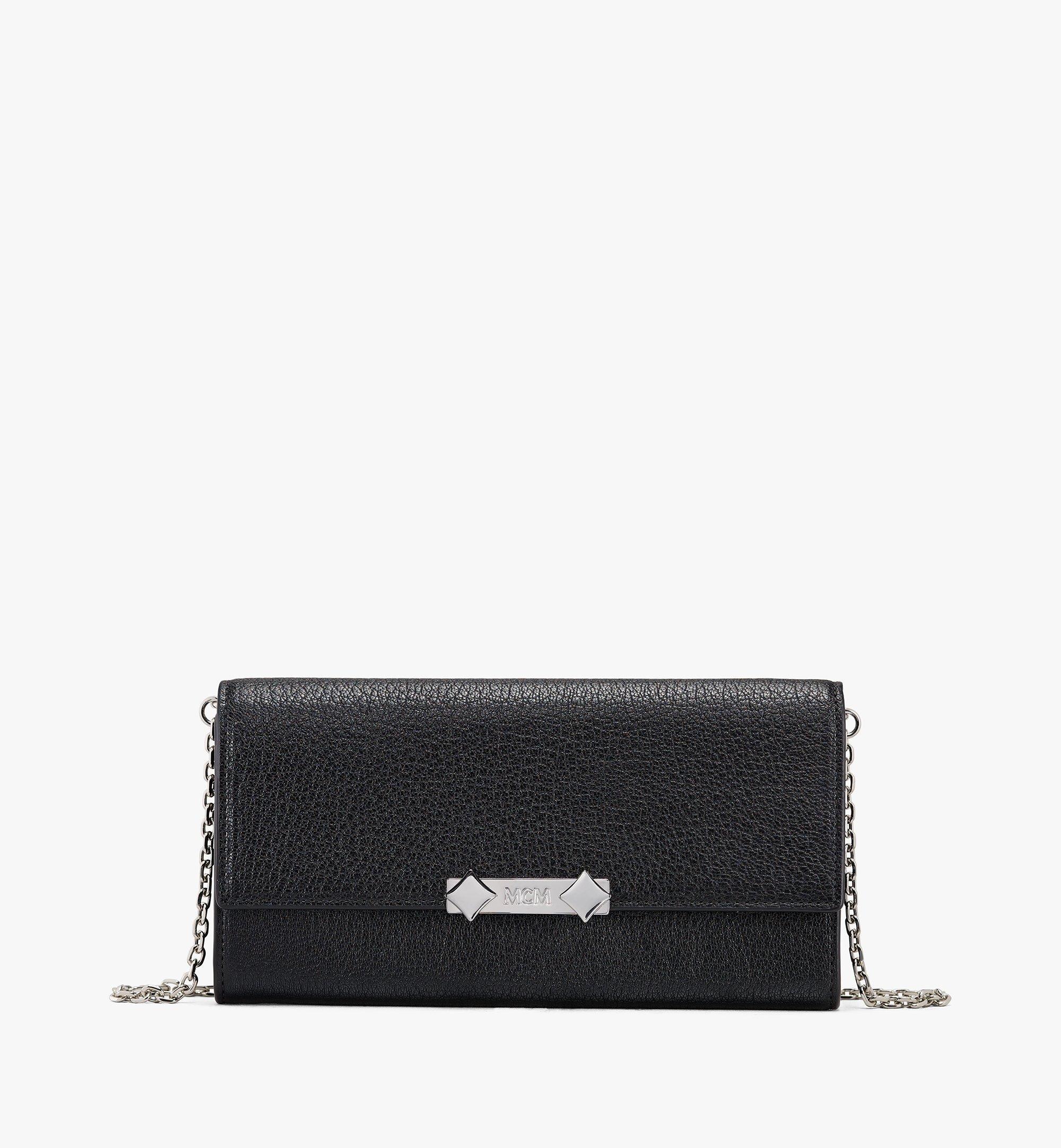 MCM Milano Crossbody-Brieftasche aus Ziegenleder Black MYLASDA01BK001 Alternate View 1