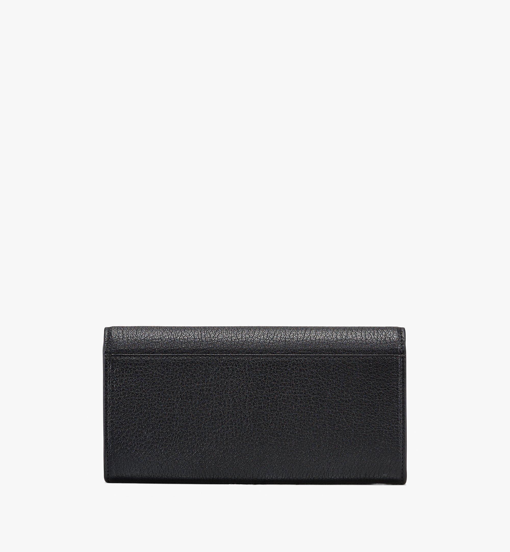 MCM Milano Crossbody-Brieftasche aus Ziegenleder Black MYLASDA01BK001 Alternate View 2