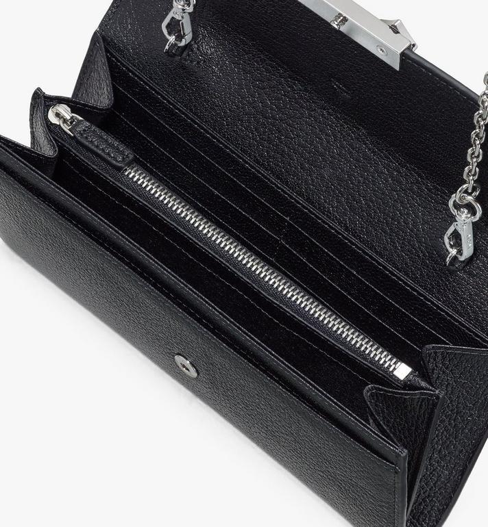 MCM Milano Crossbody-Brieftasche aus Ziegenleder Black MYLASDA01BK001 Alternate View 3
