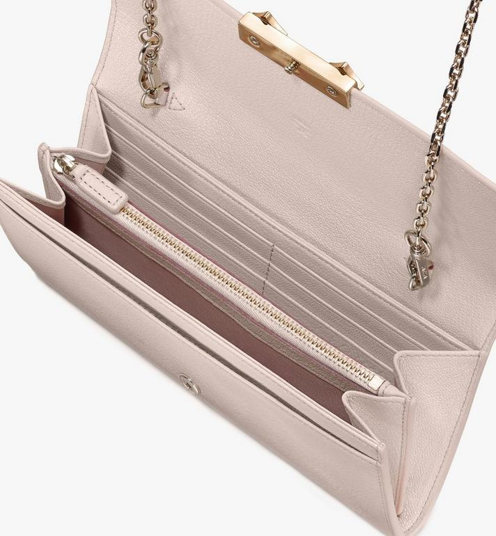 MCM Milano Crossbody Wallet in Goatskin Leather Beige MYLASDA01IH001 Alternate View 3