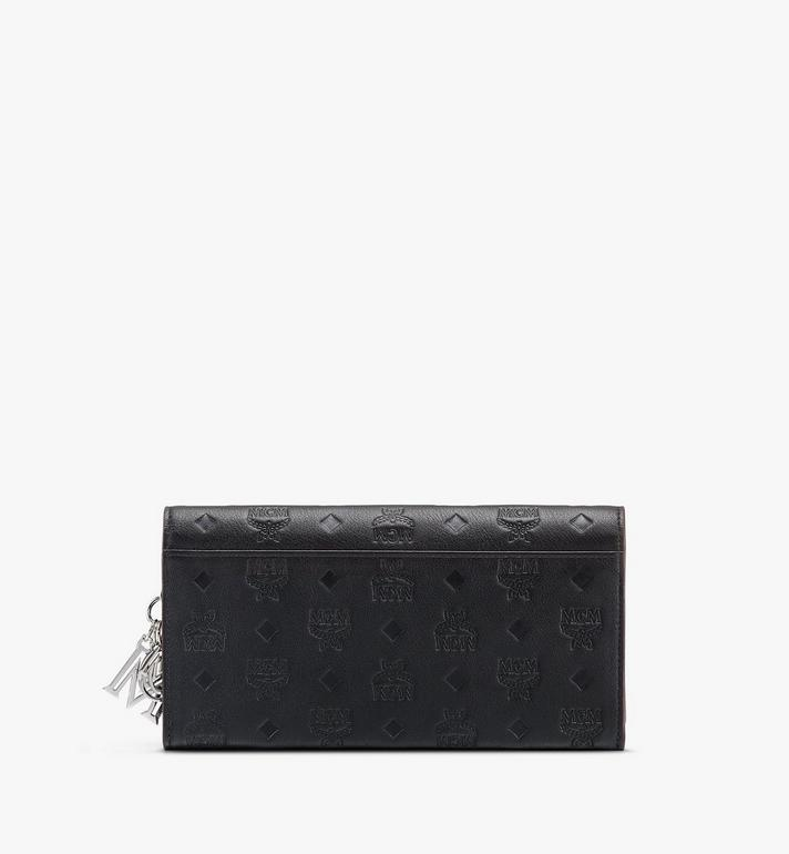 MCM Klara Chain Wallet in Monogram Leather Black MYLASKM01BK001 Alternate View 2