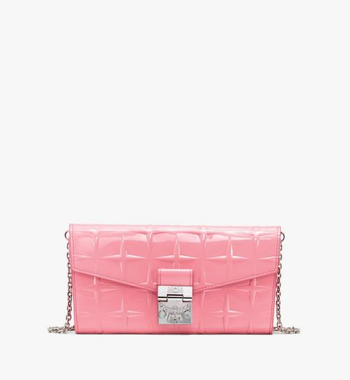 Patricia Crossbody Wallet in Diamond Patent Leather