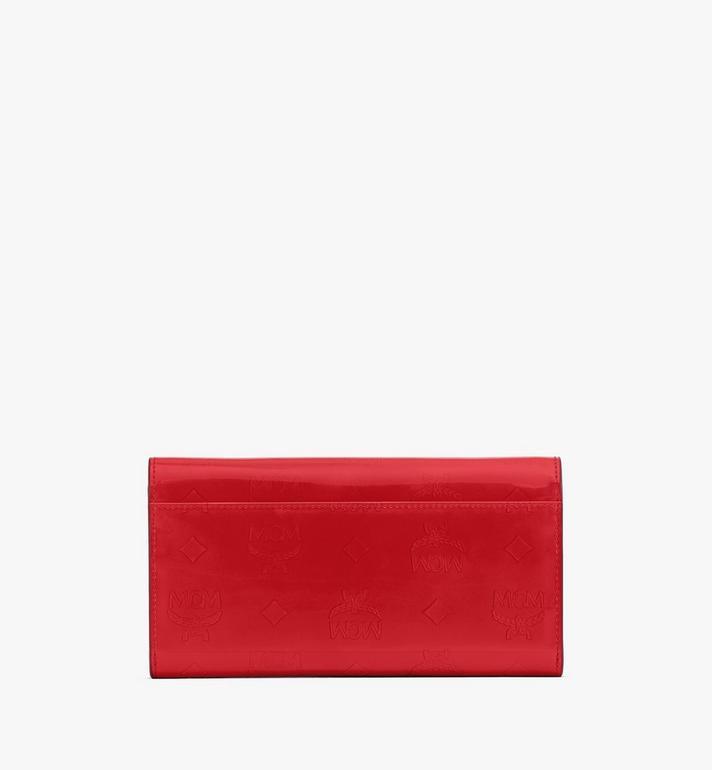 MCM Crossbody Wallet in Metallic Monogram Leather Red MYLASPM01R4001 Alternate View 2