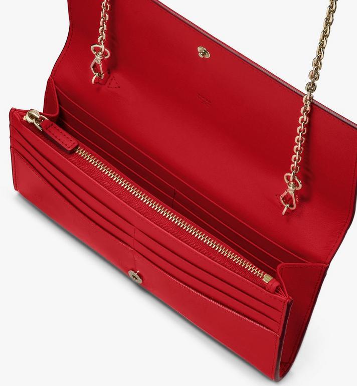 MCM Crossbody Wallet in Metallic Monogram Leather Red MYLASPM01R4001 Alternate View 3