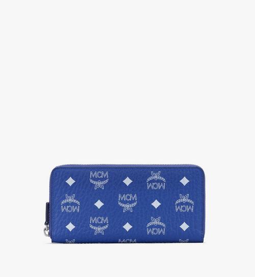 Brieftasche in Visetos mit Reissverschluss