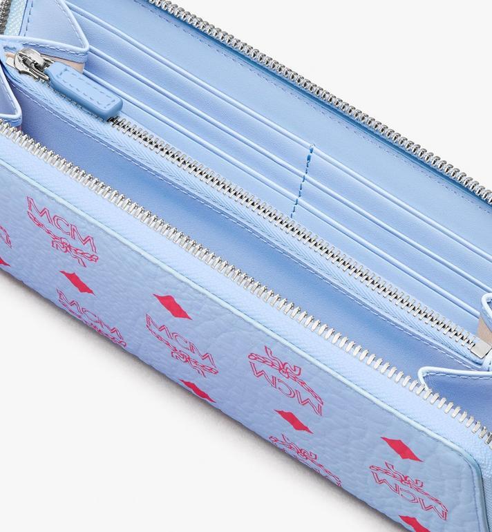 MCM Tech-Brieftasche mit Rundum-Reissverschluss in Visetos Original Blue MYLASVI01H2001 Alternate View 3