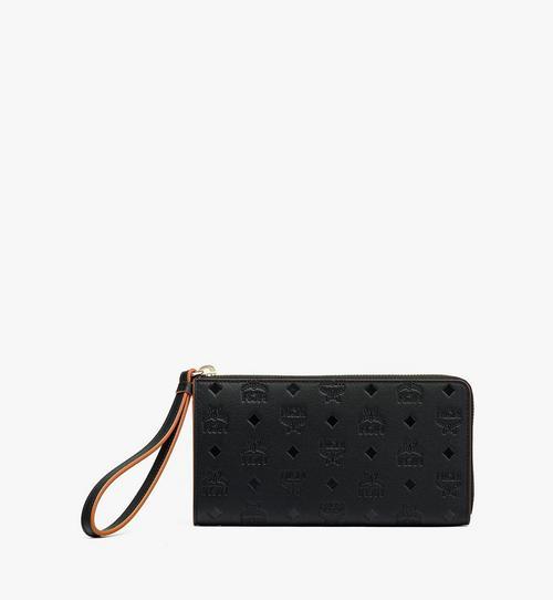 กระเป๋าสตางค์ติดซิปรอบ Klara วัสดุหนังพิมพ์ลายโมโนแกรม
