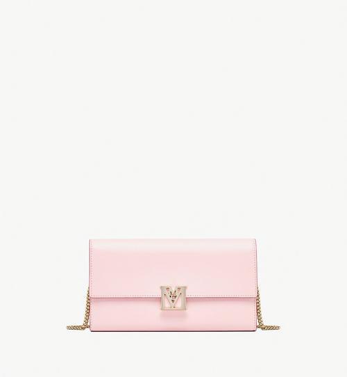 Mena Crossbody Wallet in Embossed Leather