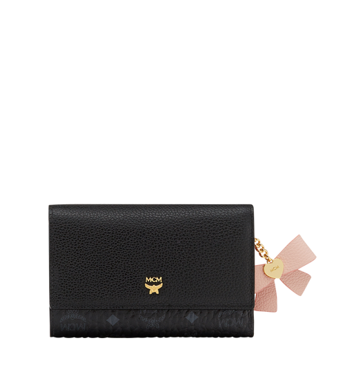 Mina Bow Three Fold Wallet in Leather