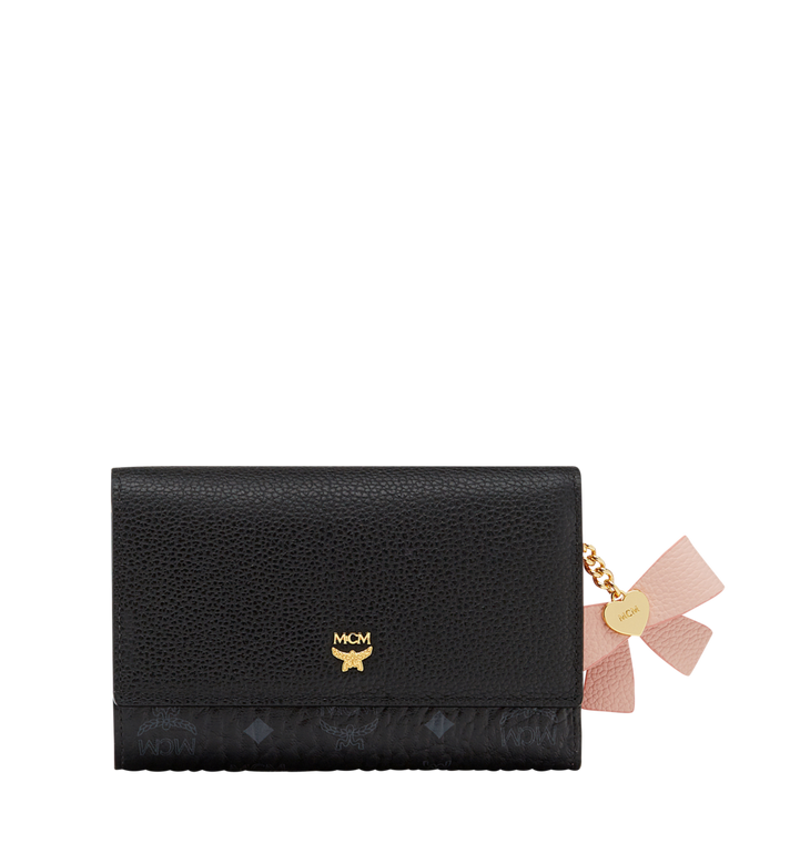 MCM Mina Bow Three Fold Wallet in Leather Alternate View