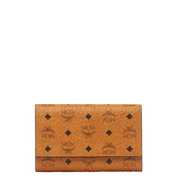MCM Three Fold Wallet in Visetos Original Cognac MYM8SVI49CO001 Alternate View 1