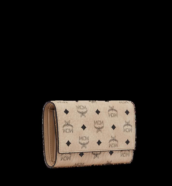 MCM Three Fold Wallet in Visetos Original Beige MYM8SVI49IG001 Alternate View 2
