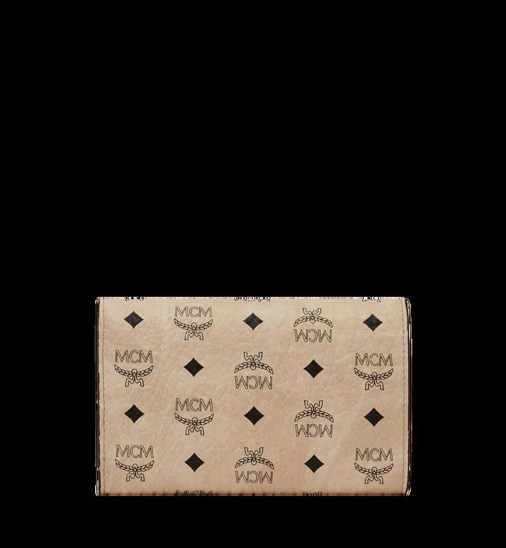 MCM Three Fold Wallet in Visetos Original Beige MYM8SVI49IG001 Alternate View 3