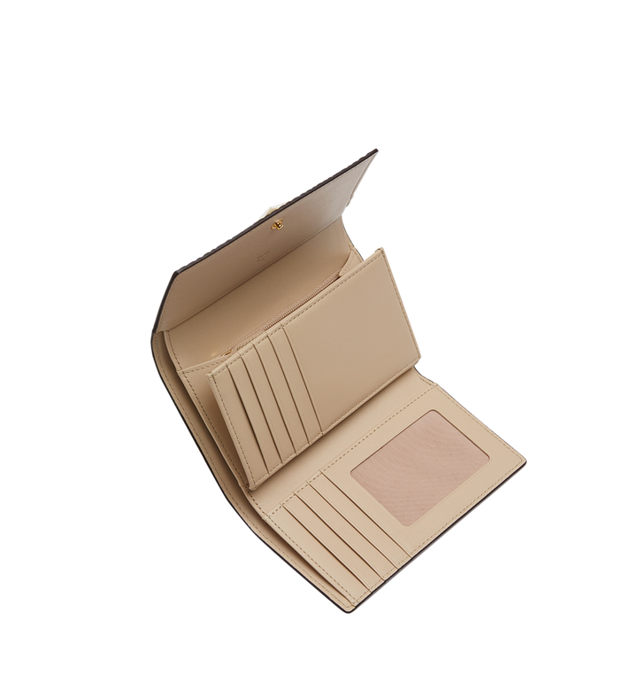 MCM Three Fold Wallet in Visetos Original Beige MYM8SVI49IG001 Alternate View 4