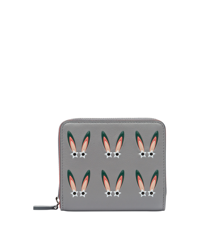 MCM Star Eyed Bunny Zip Around Wallet in Leather Alternate View