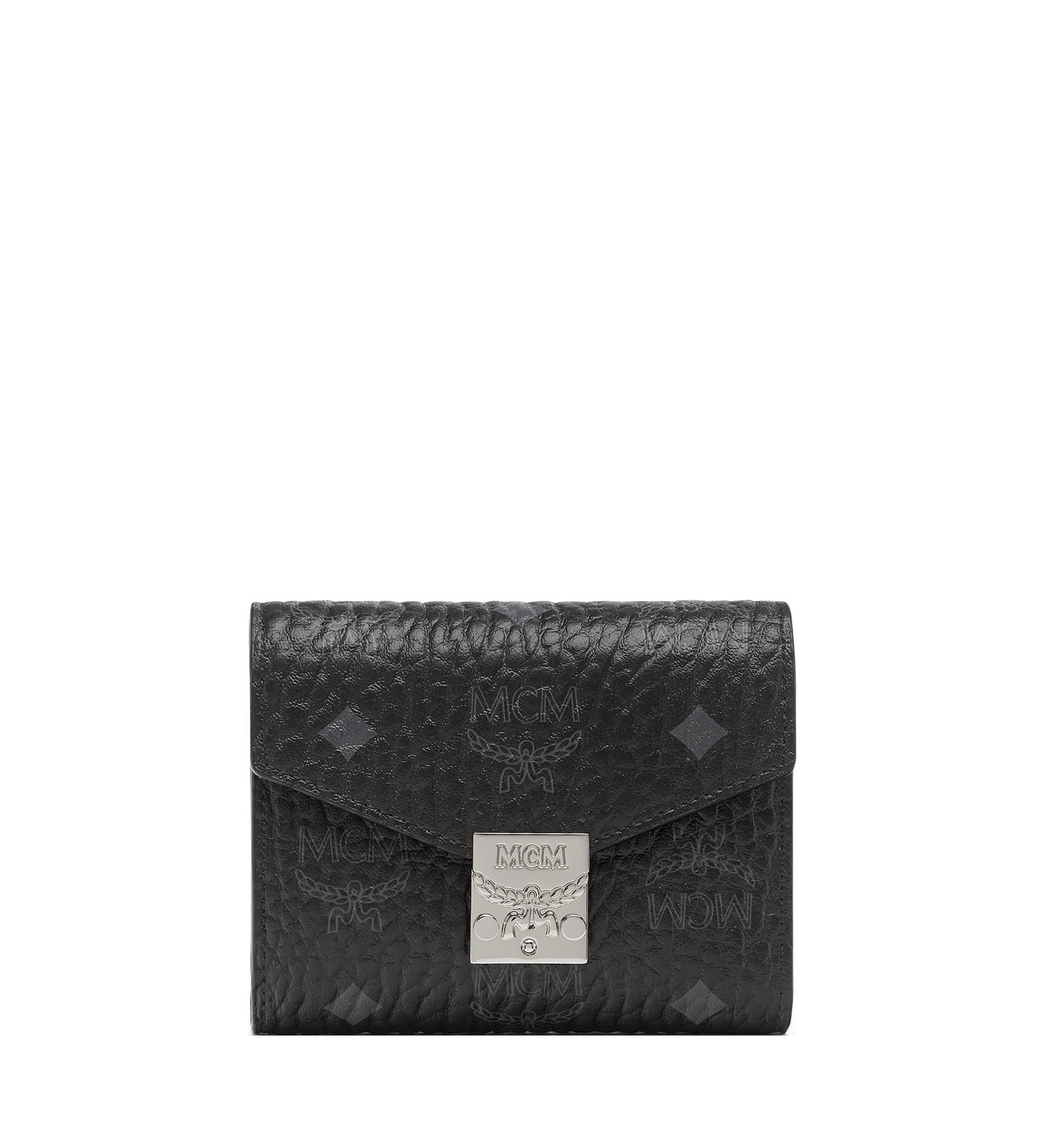 MCM Patricia Three Fold Wallet in Visetos Black MYS7SPA12BK001 Alternate View 1