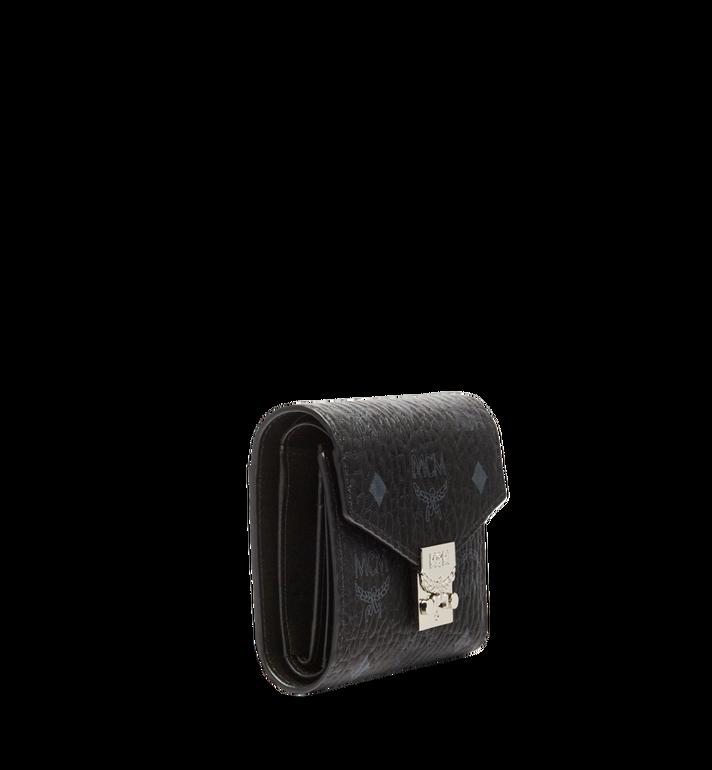MCM Patricia Three Fold Wallet in Visetos Black MYS7SPA12BK001 Alternate View 2