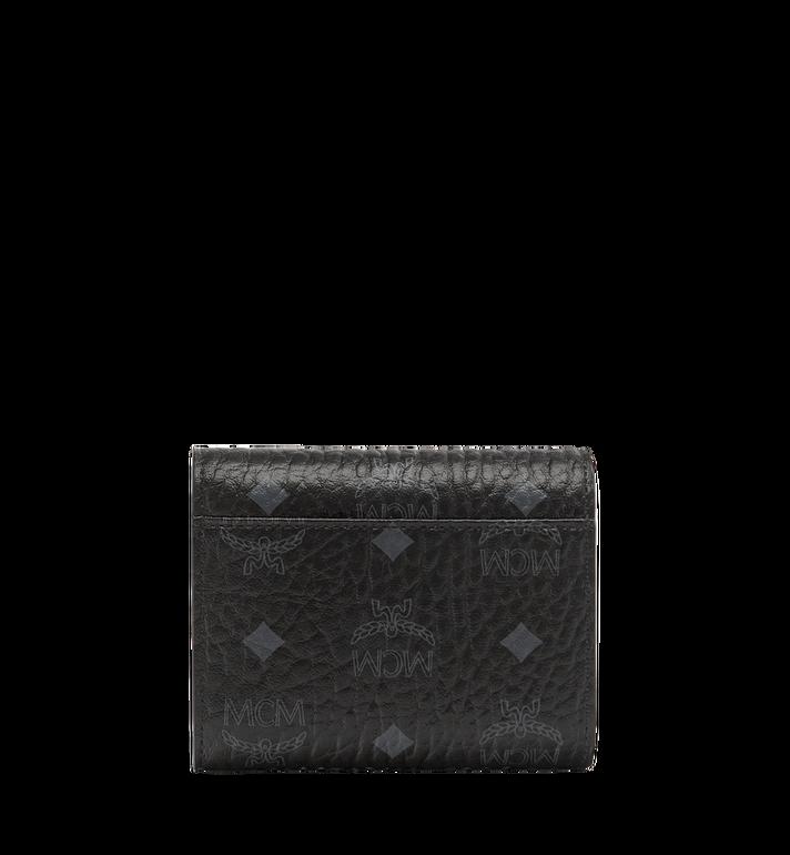 MCM Patricia Three Fold Wallet in Visetos Black MYS7SPA12BK001 Alternate View 3