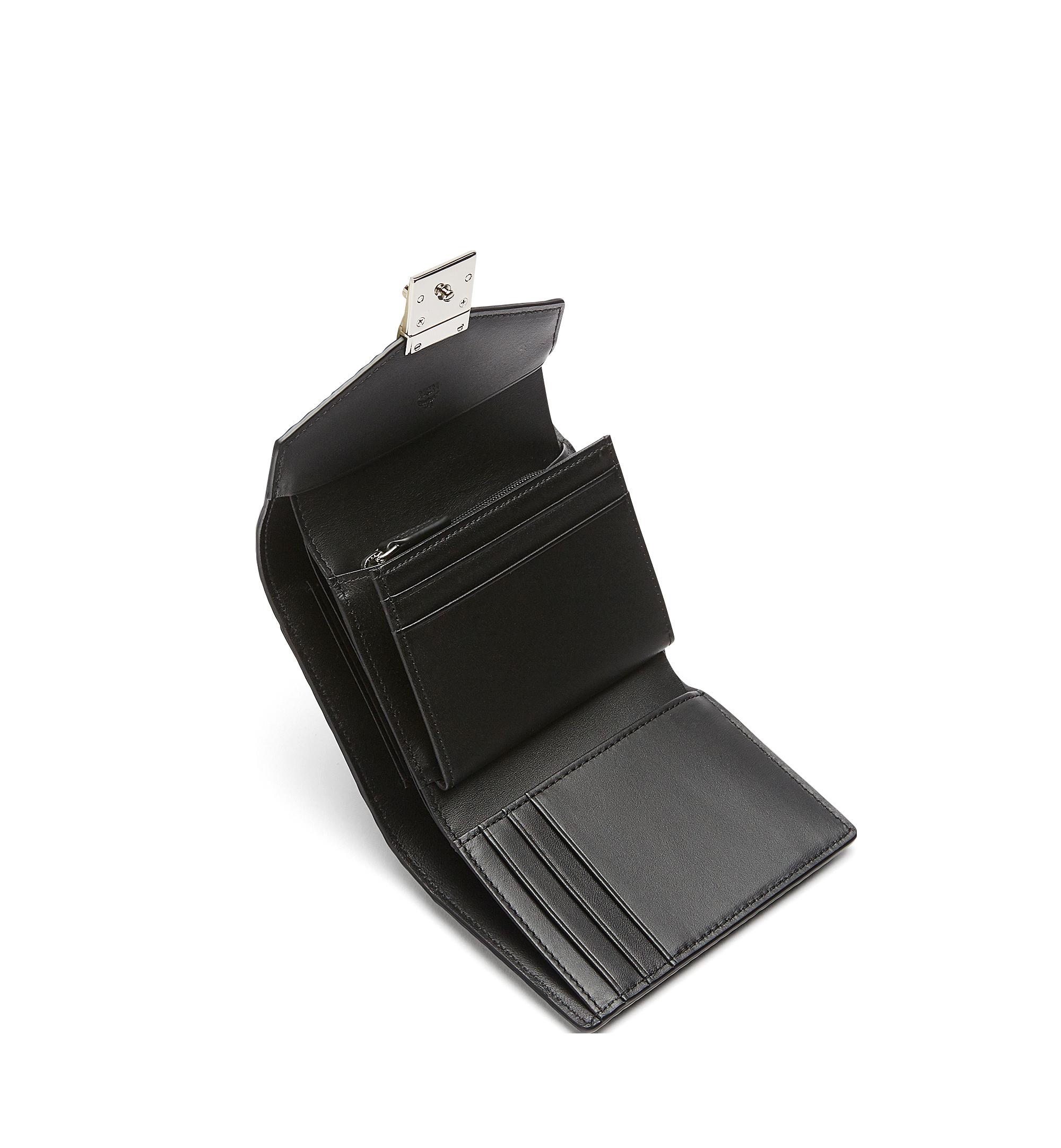 MCM Patricia Three Fold Wallet in Visetos Black MYS7SPA12BK001 Alternate View 4