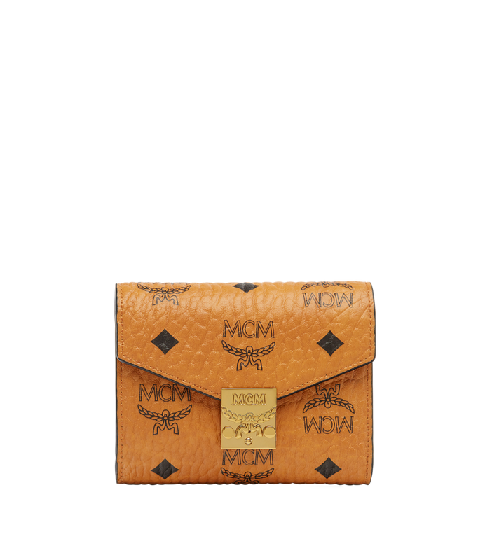 MCM Patricia Three Fold Wallet in Visetos Alternate View