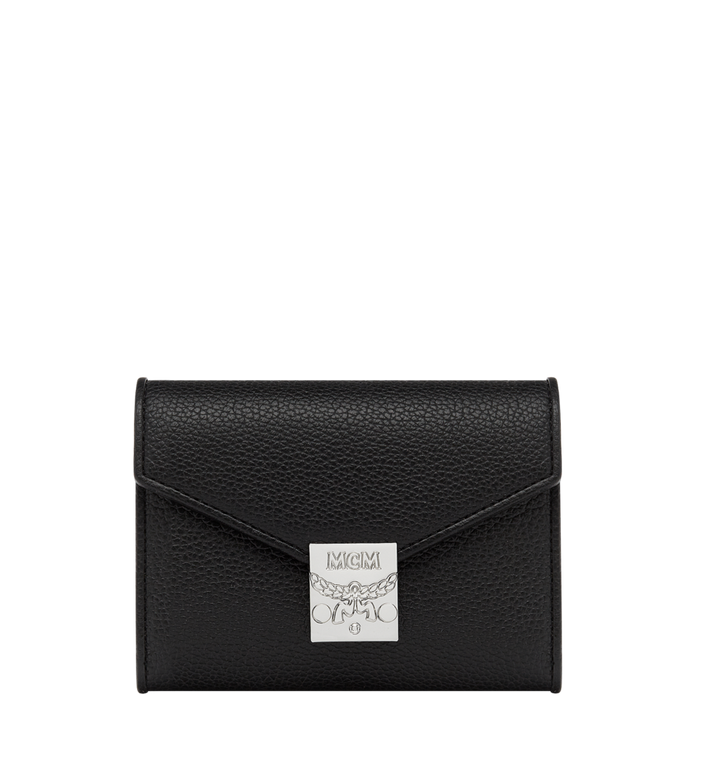 MCM Patricia Three Fold Wallet in Grained Leather Alternate View