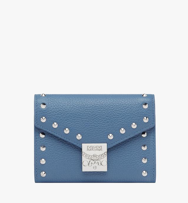 Patricia Three Fold Wallet in Studded Outline Leather