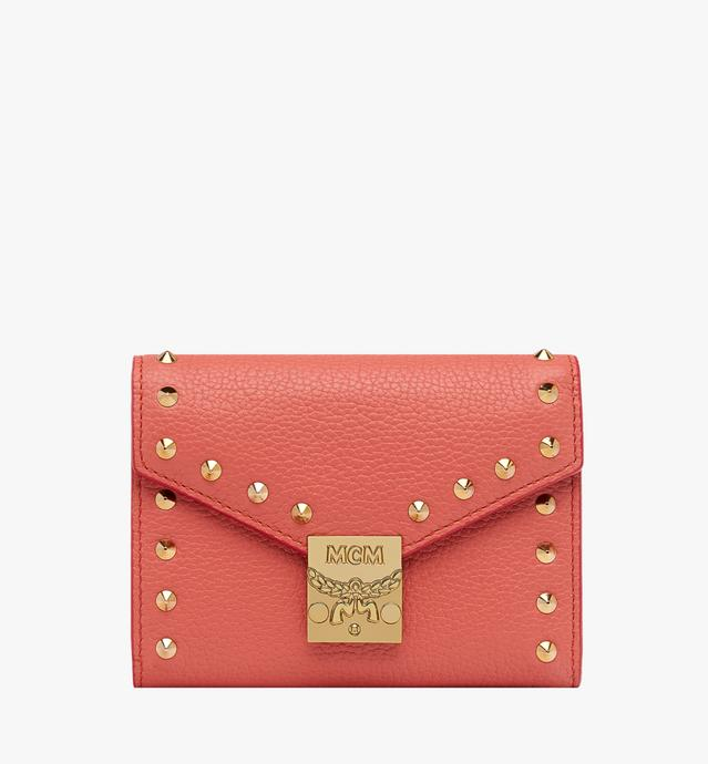 Patricia Three Fold Wallet in Studded Outline Leat