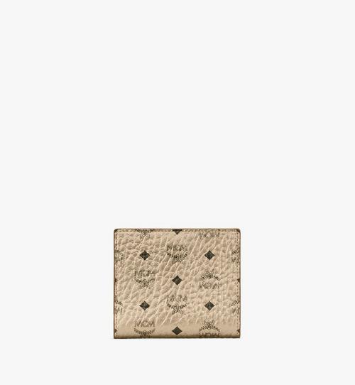 Gefaltete, flache Brieftasche in Visetos