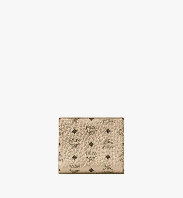 MCM Two Fold Flat Wallet in Visetos Alternate View