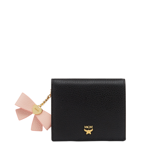 Mina Bow Charm Two Fold Wallet in Leather