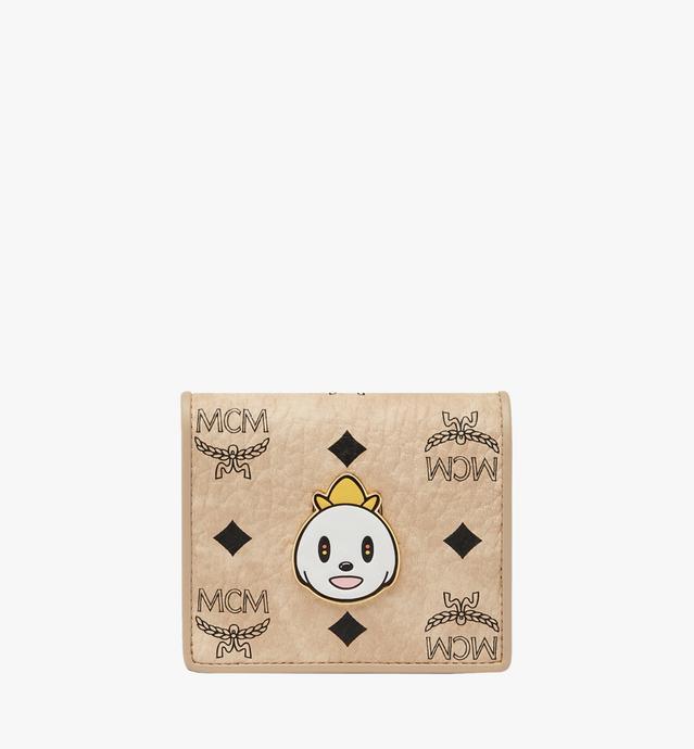 MCM x Eddie Kang Two Fold Wallet in Visetos