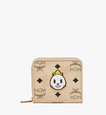 MCM x Eddie Kang Brieftasche mit Rundum-Reißverschluss in Visetos