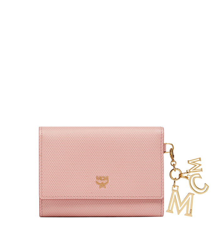 MCM Otti Charm Three Fold Wallet in Leather Alternate View