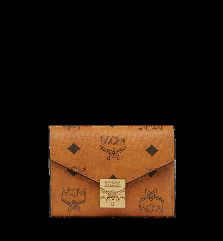 MCM Patricia Three Fold Wallet in Visetos Alternate View